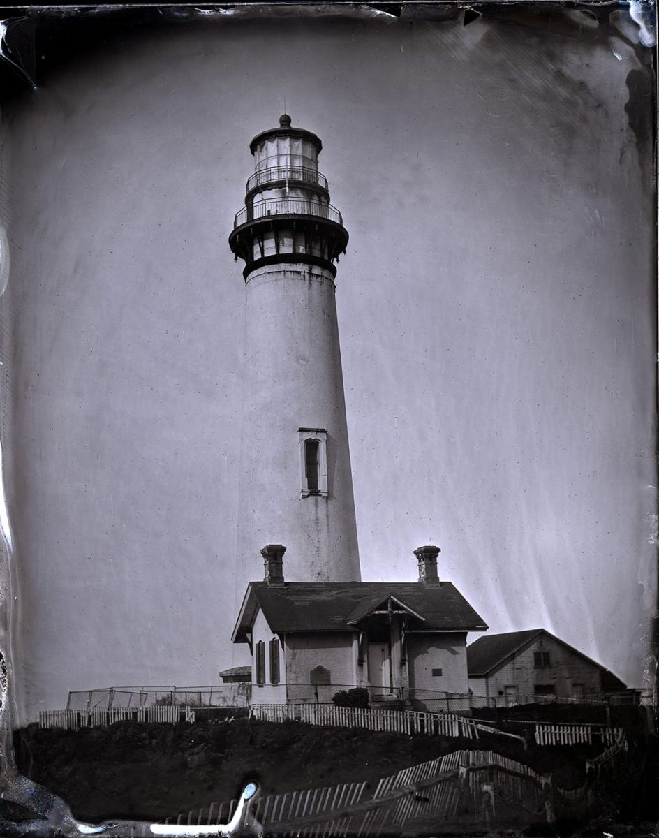 """Pigeon Pt. Lighthouse 1,"" 2018. Ambrotype"