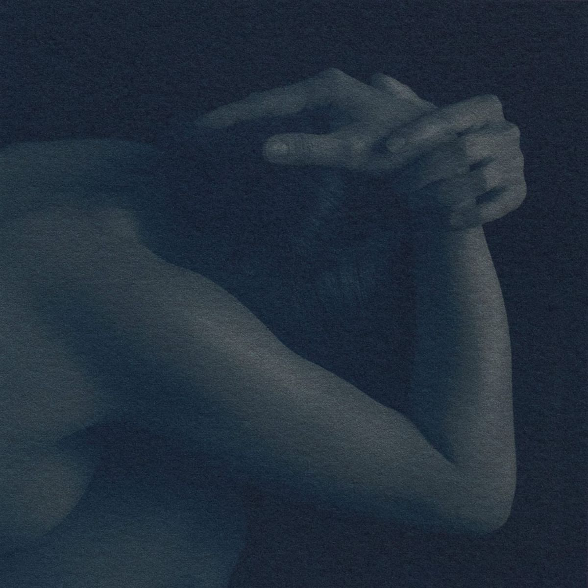 """Genuine Beauty: Hands over Head,"" 2019. Cyanotype over Platinum Palladium"