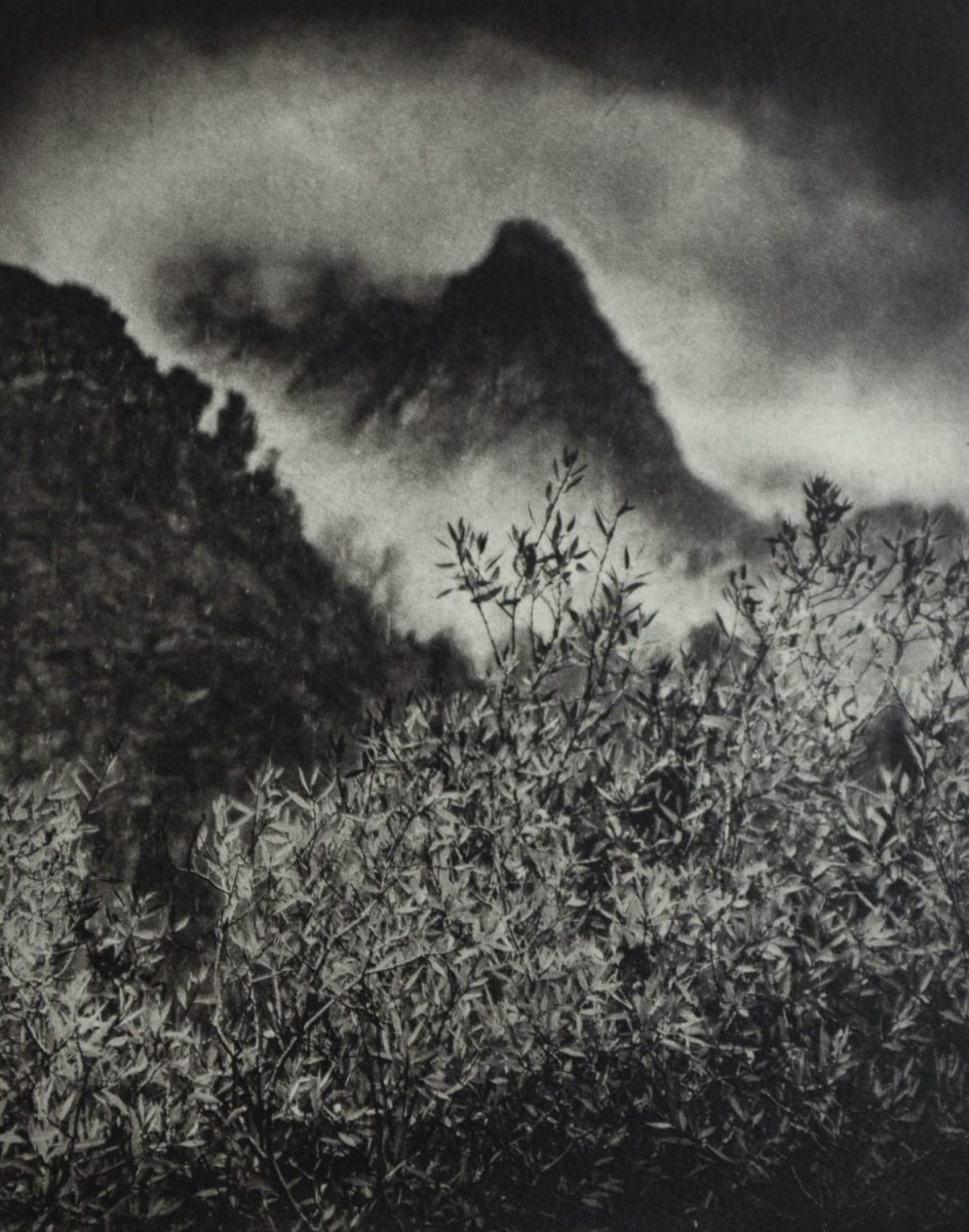 """On the Edge of Autumn and Winter, Eastern Sierra,"" 2019. Copperplate Photogravure"