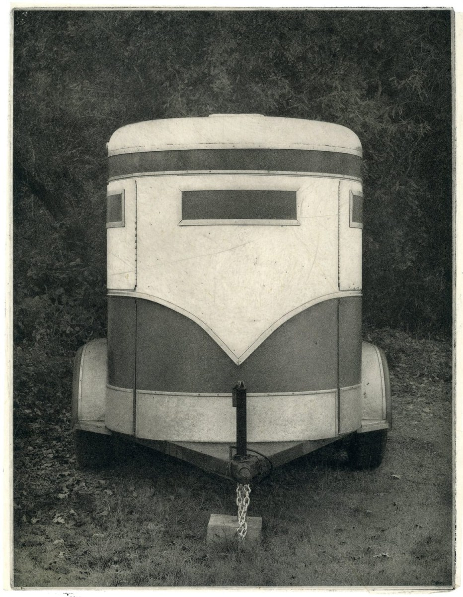 """Trailer,"" 2019. Copperplate Photogravure"