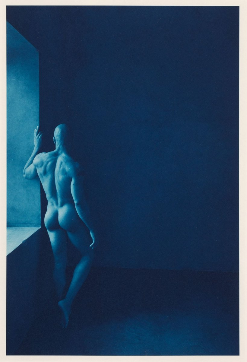 """""""Blue Nude #1"""", 2019. Ware Cyanotype on Arches Platine."""