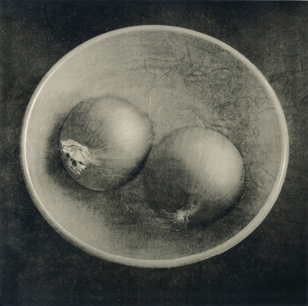 """""""Two Onions"""", 2011. Lithographic print on Agfa Classic."""