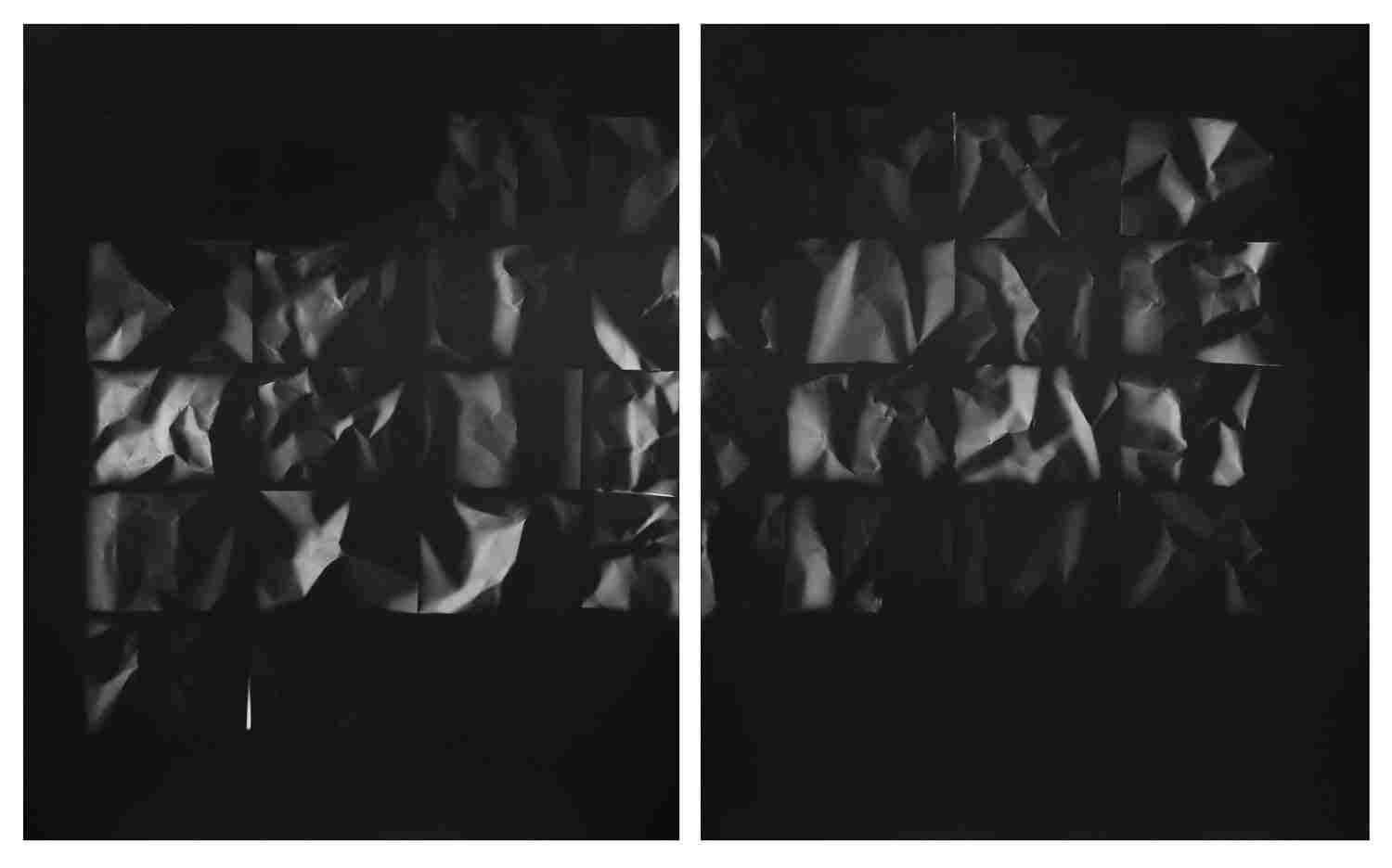 """""""Moon Phase diptych,"""" 2018. Unique silver gelatin print. From the series """"Fixing a Shadow"""""""