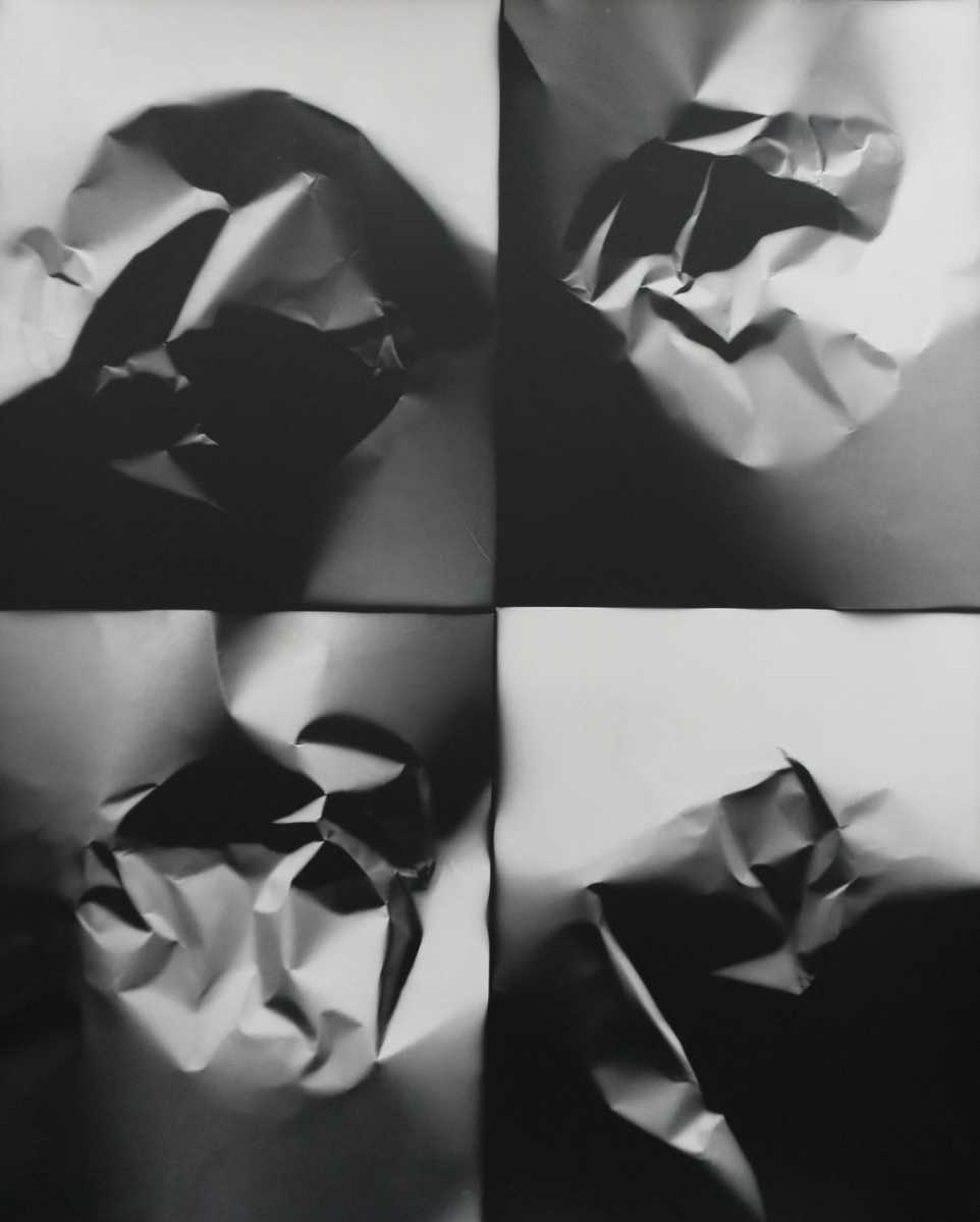 """""""Repeated Gesture 4x,"""" 2018. Unique silver gelatin print. From the series """"Fixing a Shadow"""""""