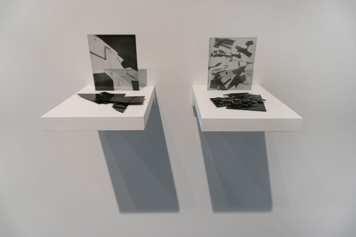 """From the series """"Returning to... (Develop before April 1972),"""" 2017. Unique prints on expired photographic slide plates."""