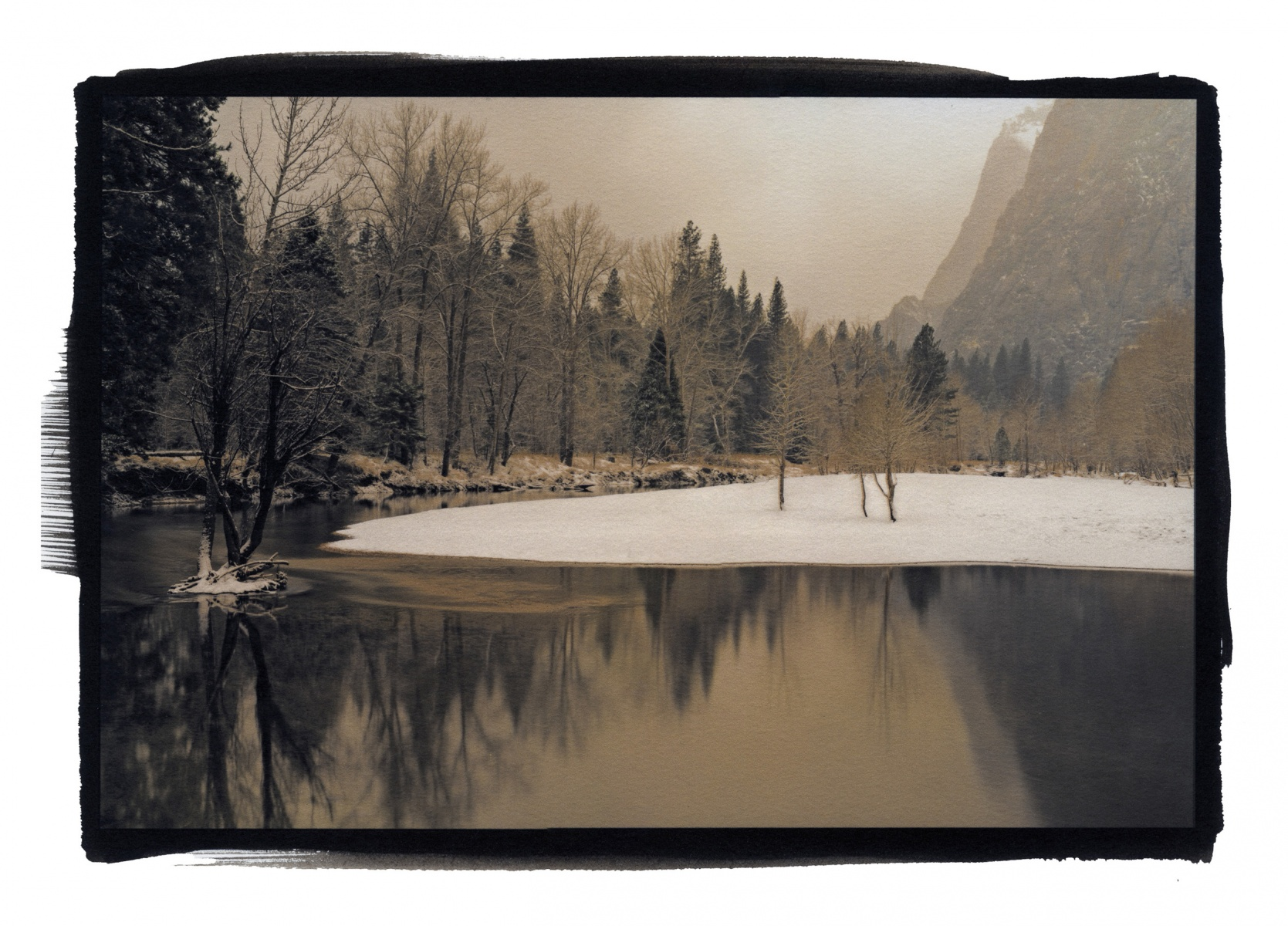 """Merced River, Winter, Yosemite\"""