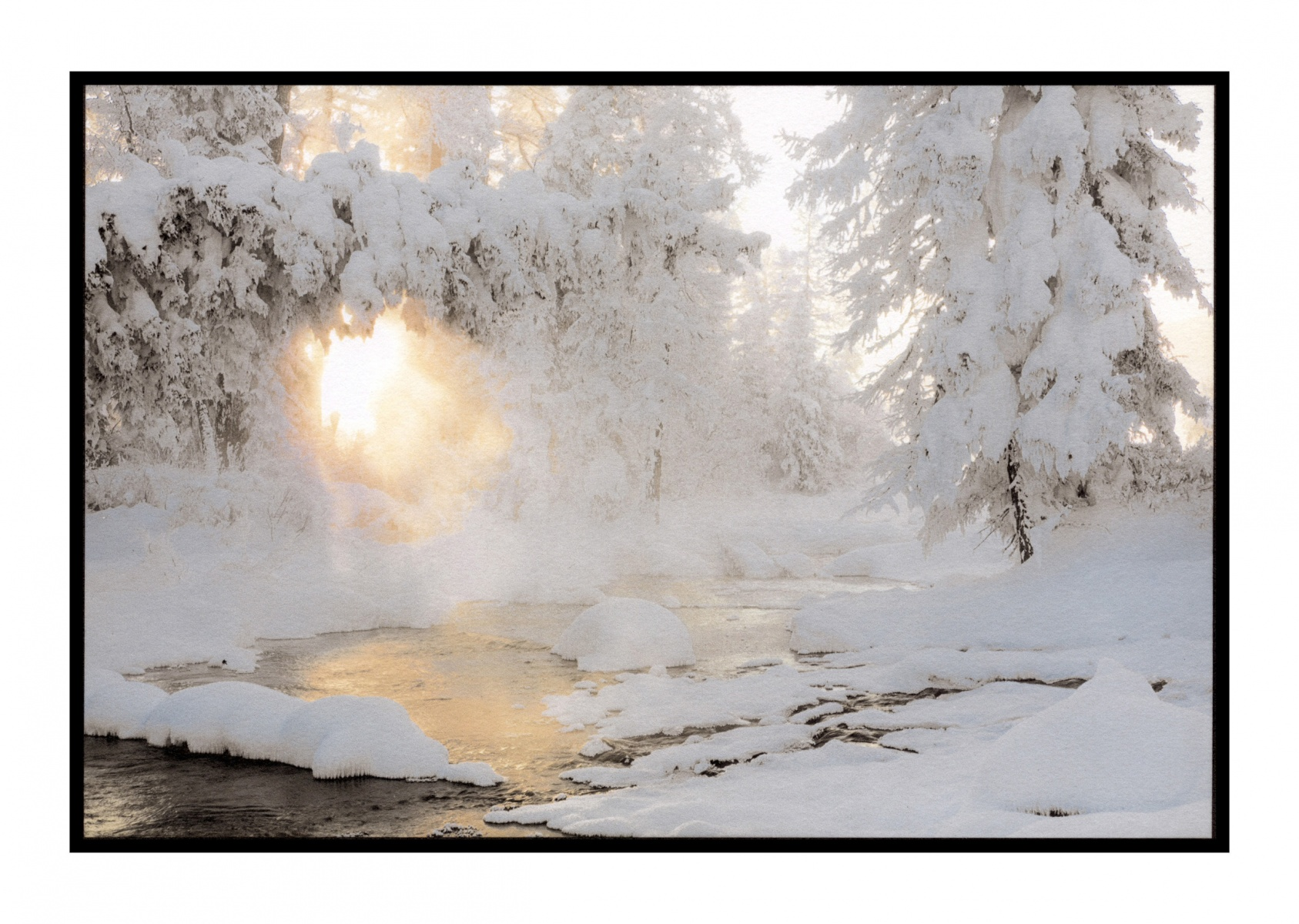 """Steamy Pond, Mongolia"""