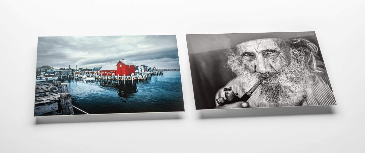 Black and White, Clear Gloss, Chromaluxe Metal Prints