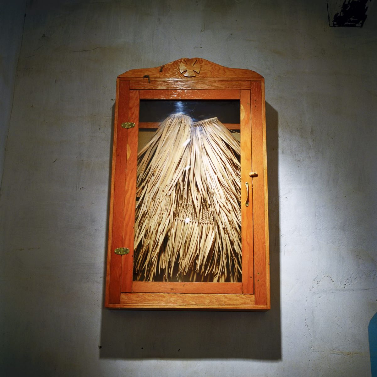 """Esselen Grass Skirt, Mission San Antonio, CA"" Photo © Lucy Goodhart 