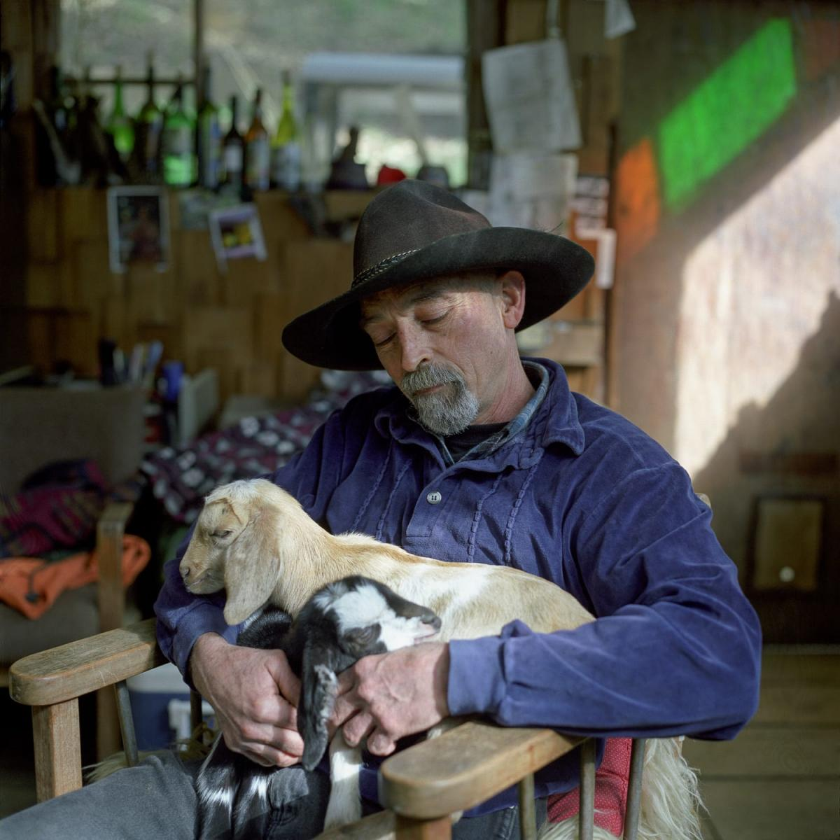 """Richard and his Goats, Big Sur, CA"" Photo © Lucy Goodhart 