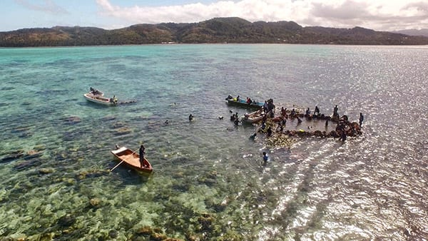 Gary Yost used a drone to capture a rare Fijian ceremony.