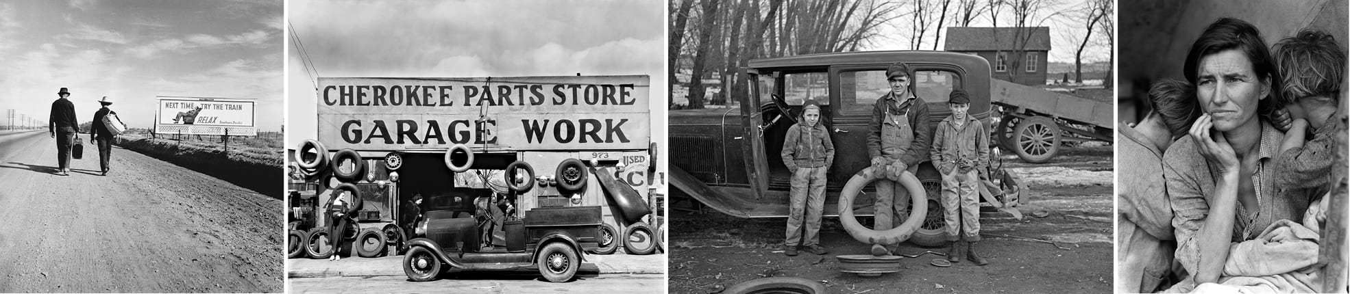 Photos © Dorthea Lange, Walker Evans, Russell Lee