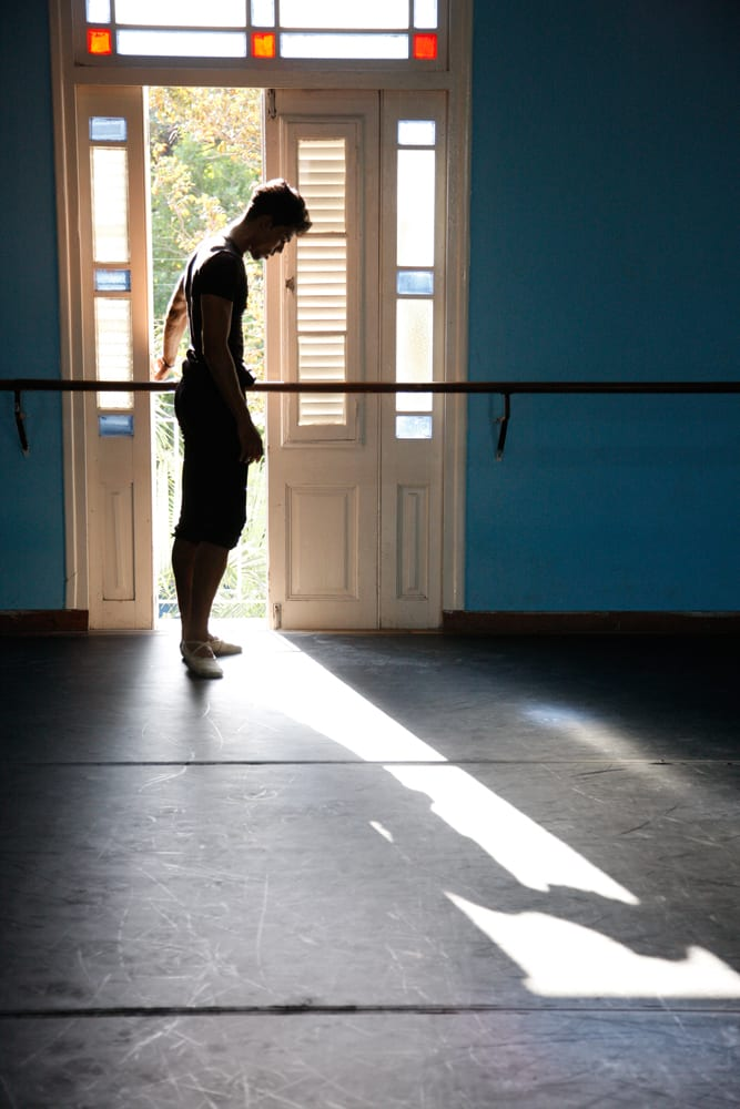 Inside the practice studio of the Cuban National Ballet. Photo © Jock McDonald.