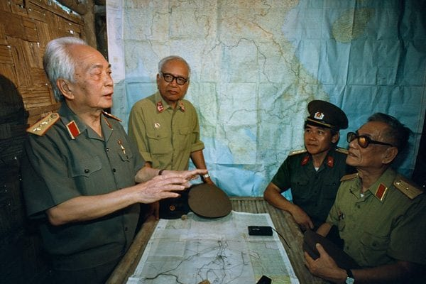 General Giap returns to the hut in the forest where he plotted the battle of Điện Biên Phủ. Photo © Catherine Karnow.
