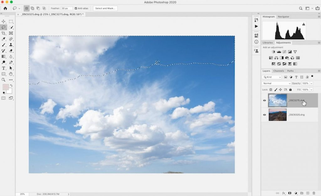 Replace Sky in Photoshop with Color Range and Blending Modes